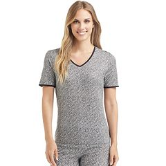 Women's Cuddl Duds Softwear Lace Trim Tee