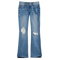 Girls 7-16 & Plus Size Mudd® Double Button Crochet Lace Skinny Boot Jeans