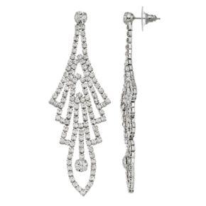 Art Deco Simulated Crystal Nickel Free Drop Earrings
