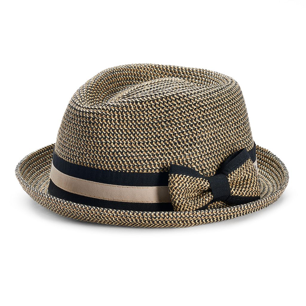 Betmar Joanne Striped Band Fedora