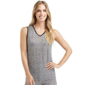 Women's Cuddl Duds Softwear Lace Trim Tank