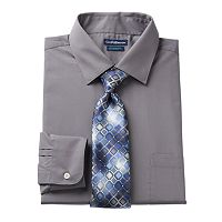 Men's Croft & Barrow® Fitted Stretch-Collar Dress Shirt and Patterned Tie Boxed Set