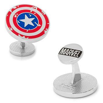 Marvel Comics Captain America Distressed Shield Cuff Links