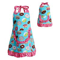 Girls 4-16 Dollie & Me Ruffled Donut Apron Set