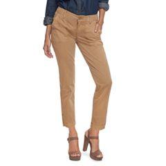 Petite SONOMA Goods for Life™ Straight-Leg Sateen Ankle Pants