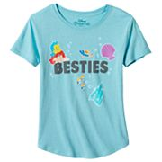 Disney's The Little Mermaid Ariel & Flounder Girls Plus Size 'Besties' Graphic Tee