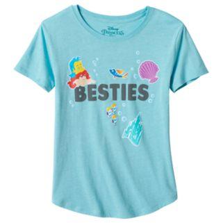"Disney's The Little Mermaid Ariel & Flounder Girls Plus Size ""Besties"" Graphic Tee"