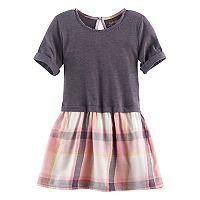 Toddler Girl Jumping Beans® Roll-Cuff Plaid Dress