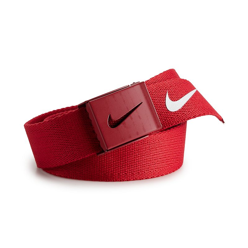 Nike Tech Essentials Single Web Golf Belt - Mens - Varsity Red