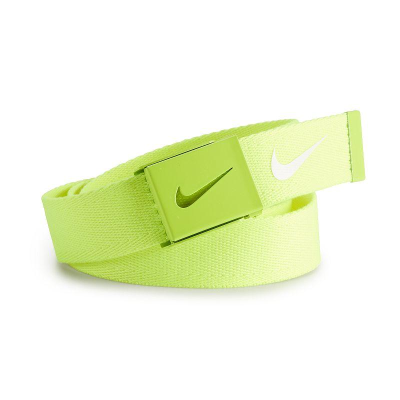 Nike Tech Essentials Single Web Golf Belt - Mens - Volt