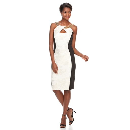 Women's Jax Colorblock Keyhole Sheath Dress