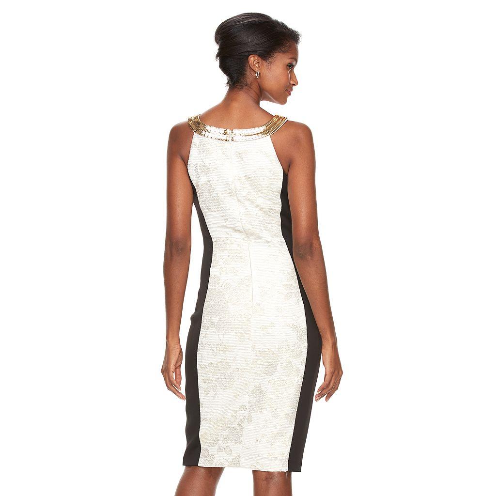Women's Jax Colorblock Keyhole Sheath Dress