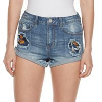 Juniors' Mudd® Ripped Embroidered Patch Shortie Shorts