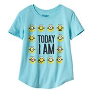 Girls Plus Despicable Me Minions 'Today I Am' Glitter Graphic Tee