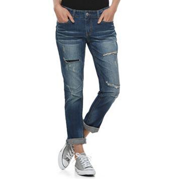 Juniors' Unionbay Tory Ripped Boyfriend Jeans