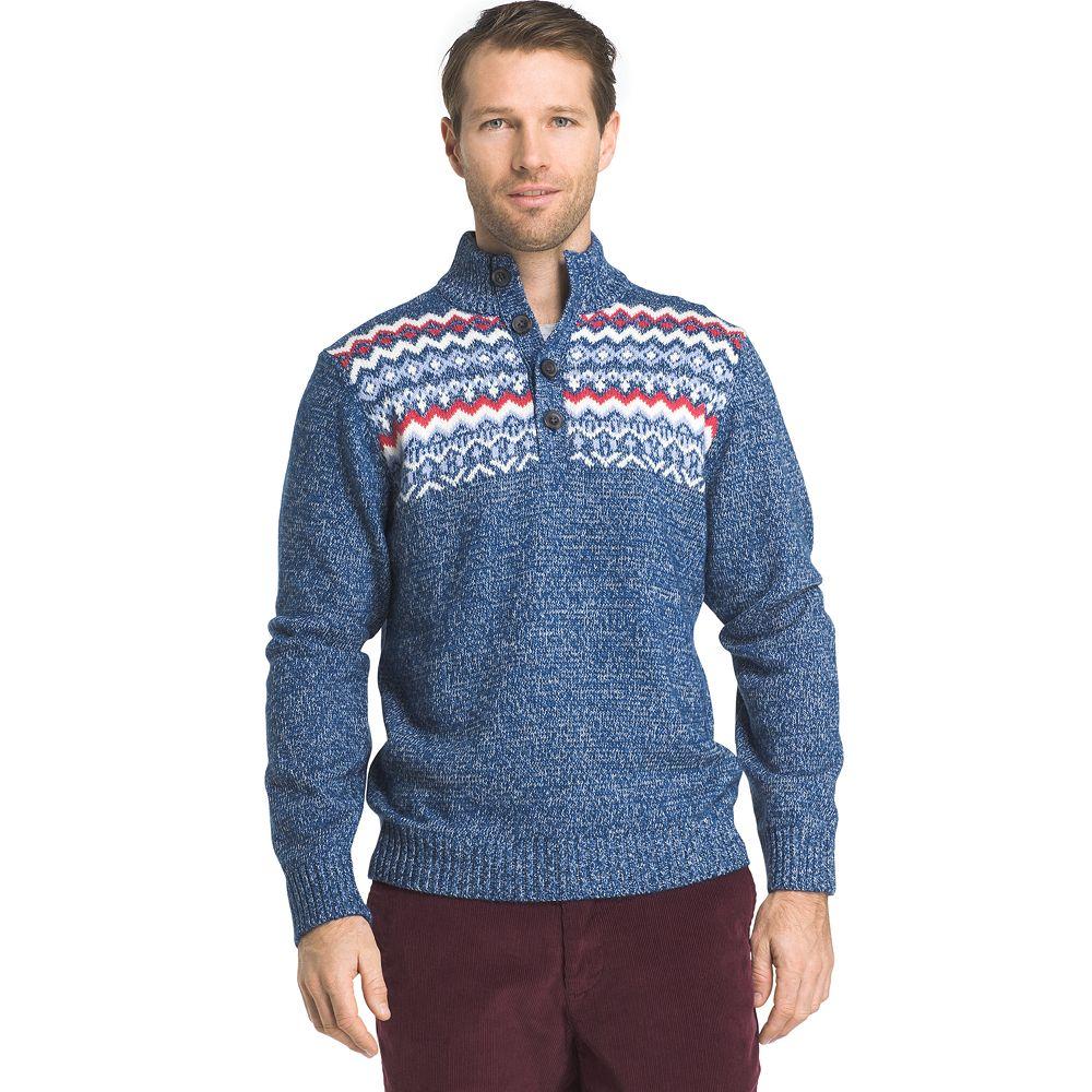 & Tall IZOD Fairisle Mockneck Sweater