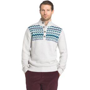 Big & Tall IZOD Fairisle Mockneck Sweater