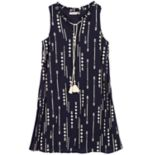 Girls 7-16 Speechless Tassel Tie Arrow Printed Shift Dress