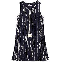 Girls 7-16 Speechless Tassel Tie Arrow Printed Shift Dress