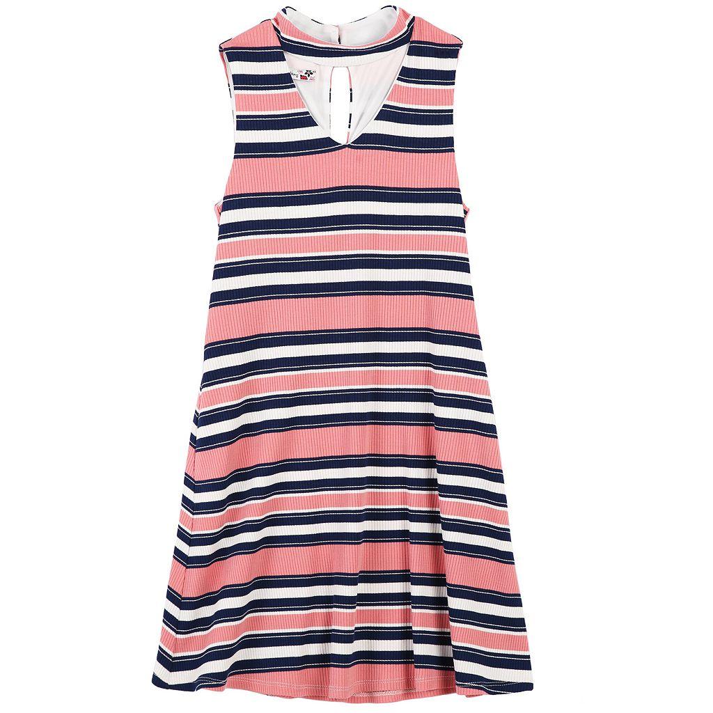 Girls 7-16 Speechless Ribbed Striped Knit Shift Dress