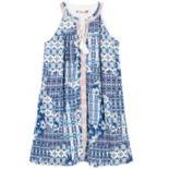Girls 7-16 Speechless Tassel Tie Printed Shift Dress