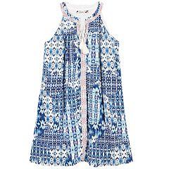 Girls 7-16 Speechless Tassel Tie Printed Shift Dress