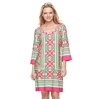 Women's MSK Tile Shift Dress