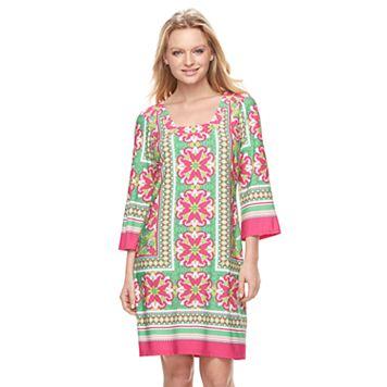 Women's MSK Tile Shift Dress