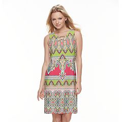 Women's MSK Scroll Lace-Up Shift Dress