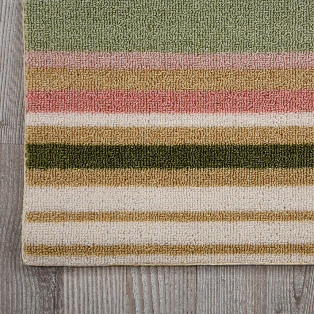 Waverly Sun N' Shade Paddock Shawl Striped Indoor Outdoor Rug