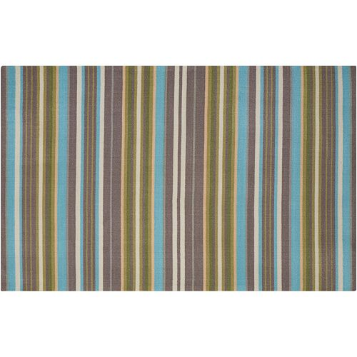 Waverly Sun N' Shade Paddock Shawl Striped Indoor Outdoor Rug