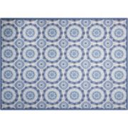 Waverly Sun N' Shade Solar Flare Medallion Indoor Outdoor Rug