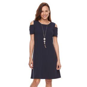 Women's Perceptions Cold-Shoulder Shift Dress