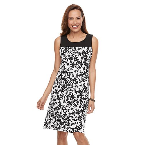 Women's Perceptions Floral Shift Dress