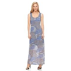 Women's Ronni Nicole Shadow Stripe Peacock Maxi Dress