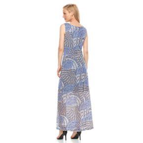 Women's Ronni Nicole Shadow Stripe Peacock Maxi Dress