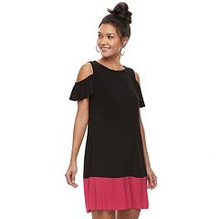 Women's Tiana B Cold-Shoulder Colorblock Dress
