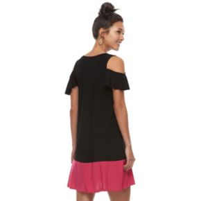 Women's Tiana B Cold-Shoulder Colorblock Dress