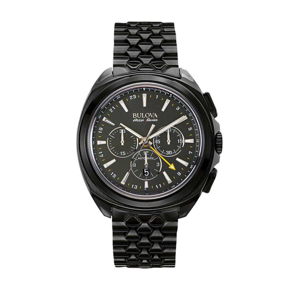 Bulova Men's Accu Swiss Special Edition Automatic Chronograph GMT Watch - 65B160
