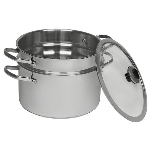 Revere Copper Confidence Core 6.5-qt. Stainless Steel Stockpot with Lid & Pasta Insert