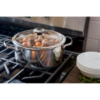 Revere Copper Confidence Core 5-qt. Stainless Steel Dutch Oven with Lid