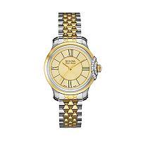 Bulova Women's Accu Swiss Diamond Stainless Steel Watch