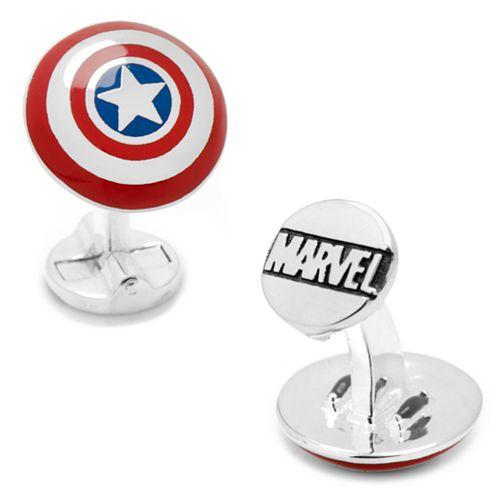 Marvel Comics 3D Captain America Shield Cuff Links
