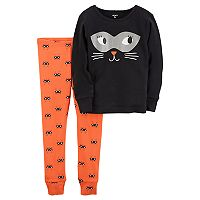 Baby Girl Carter's Halloween Cat Top & Bottoms Pajama Set