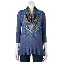 Women's World Unity Peplum Tee & Scarf Set