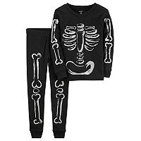 Baby Carter's Halloween Skeleton Top & Bottoms Pajama Set