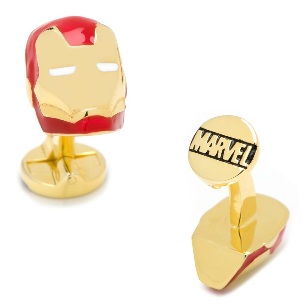 Marvel Comics 3D Iron Man Mask Cuff Links