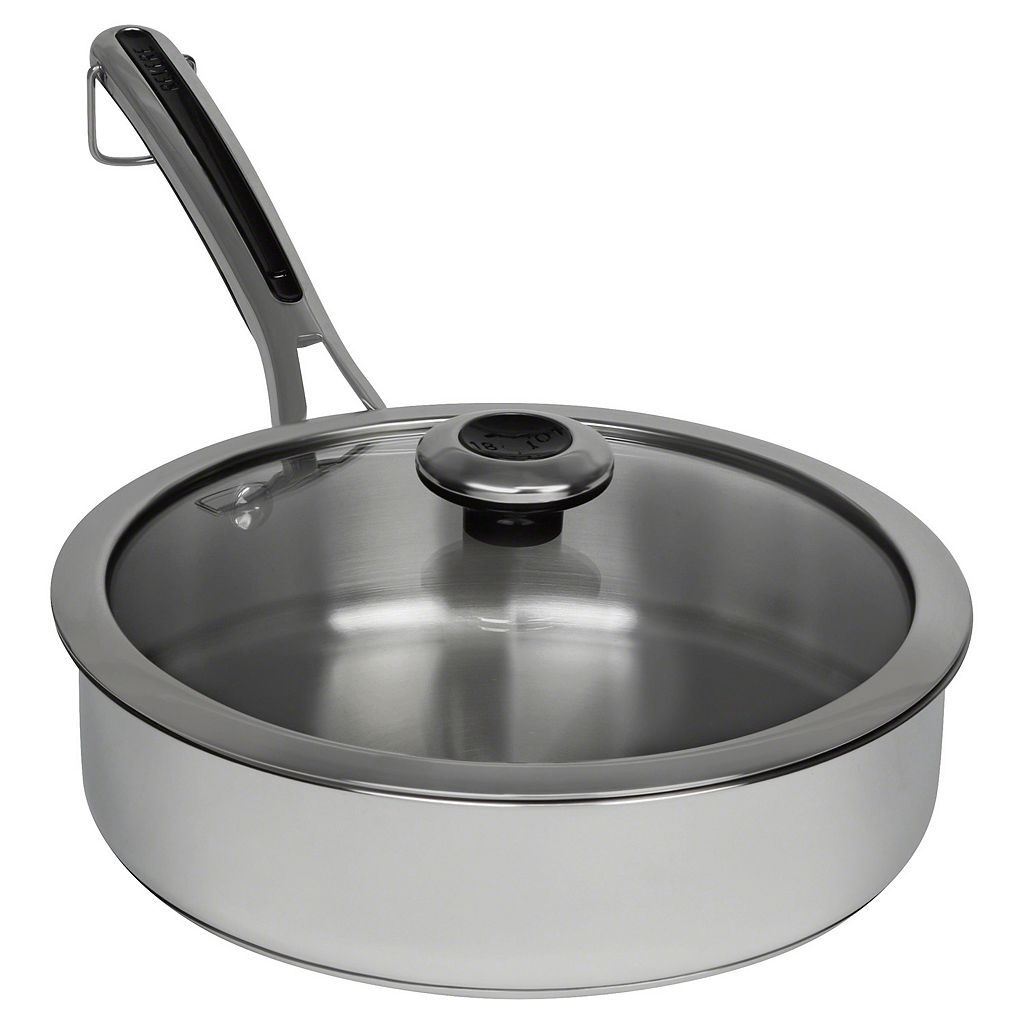 Revere Copper Confidence Core 3-qt. Stainless Steel Saute Pan