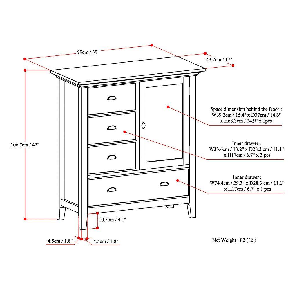 Simpli Home Redmond Storage Cabinet