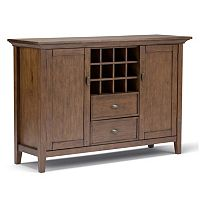Simpli Home Redmond Sideboard Buffet & Wine Rack